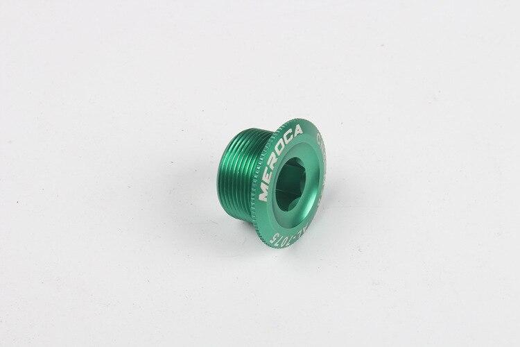 Alliage d'aluminium CNC VTT Couleur Pédalier Manivelle De Manivelle Vis M18 M20 Compatible Shimano