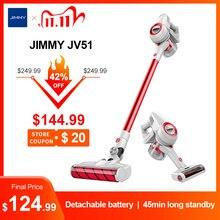 جيمي JV51 يده اللاسلكي مكنسة كهربائية للمنزل المحمولة اللاسلكية 115AW شفط السجاد سيكتسح مجمع الغبار