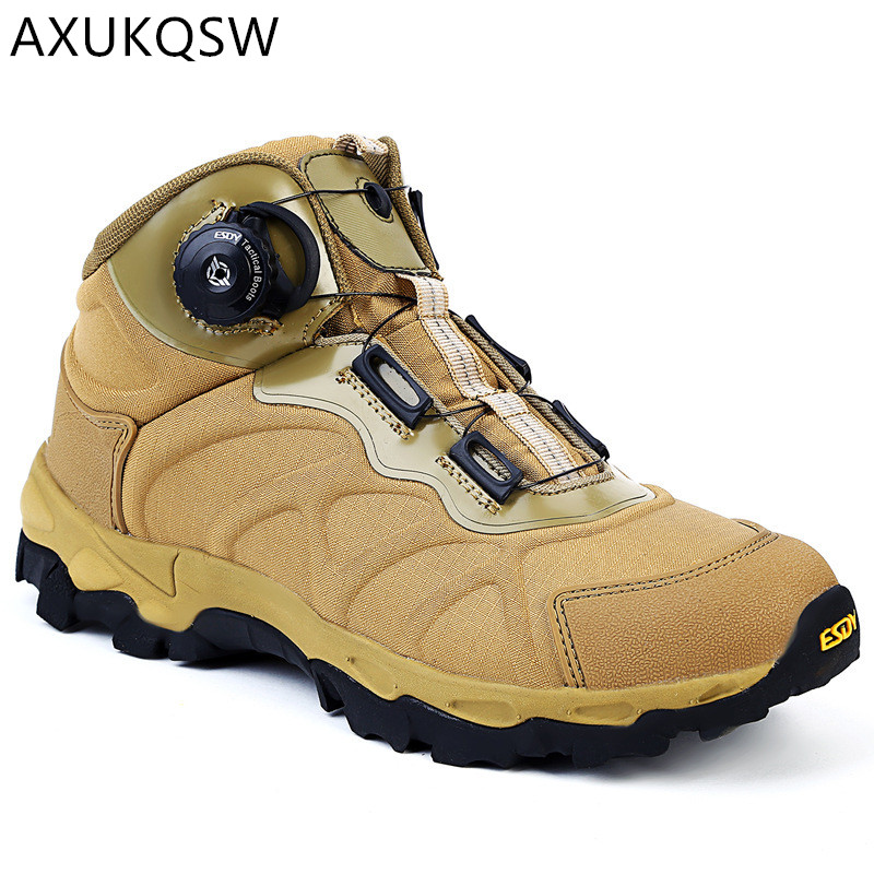 Men's Shoes Tactical Military Boots Outdoor Rapid Response BOA System Hunting Safety Comfortable Sports Shoes 2019 Hiking Shoes