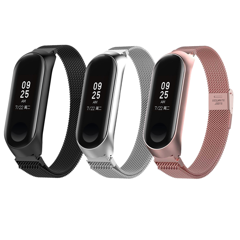 Smart Watch Strap For Xiaomi Mi Band 3 Mi Band 4 Strap For Xiaomi Miband 4 Bracelet For Xiaomi Mi Band 3 Metal Stainless Steel