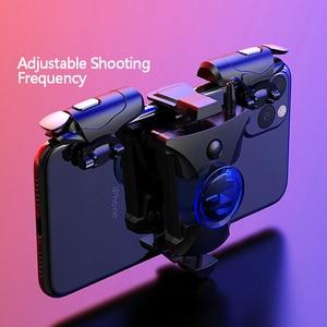 Image 1 - Mobiele Gamepad Legering Joystick Smartphone Gaming Controller Voor Iphone Android Pubg Gamepad Shooter Trigger Knop Controle Handvat