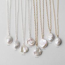 925 Silver/Gold Filled Natural Baroque Pearl Necklace Handmade Jewelry Choker Pendants Femme Kolye Collares Boho Necklace