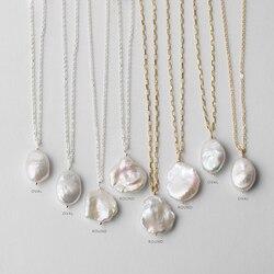 Collier de perles naturelles, en argent et or 925, rempli de perles baroques, bijoux faits à la main, ras du cou pour femmes, colares, Boho