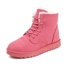 2019 Snow Boots New Mid-Calf Boots Ladies Cotton Winter Boots Women Warm Fur Women Shoes Winter Women'S Boots Lace Up цена