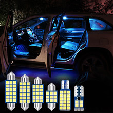Для Nissan Qashqai J10 2.0L 2006-2015 6 шт. в комплекте без ошибок 12 В светодиодный ные лампы для салона автомобиля купольные лампы для чтения лампы для бага...