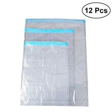 12 шт. компрессионные пакеты для хранения водонепроницаемые сумки-органайзеры закатываются дорожные сумки для одежды платье пуховик