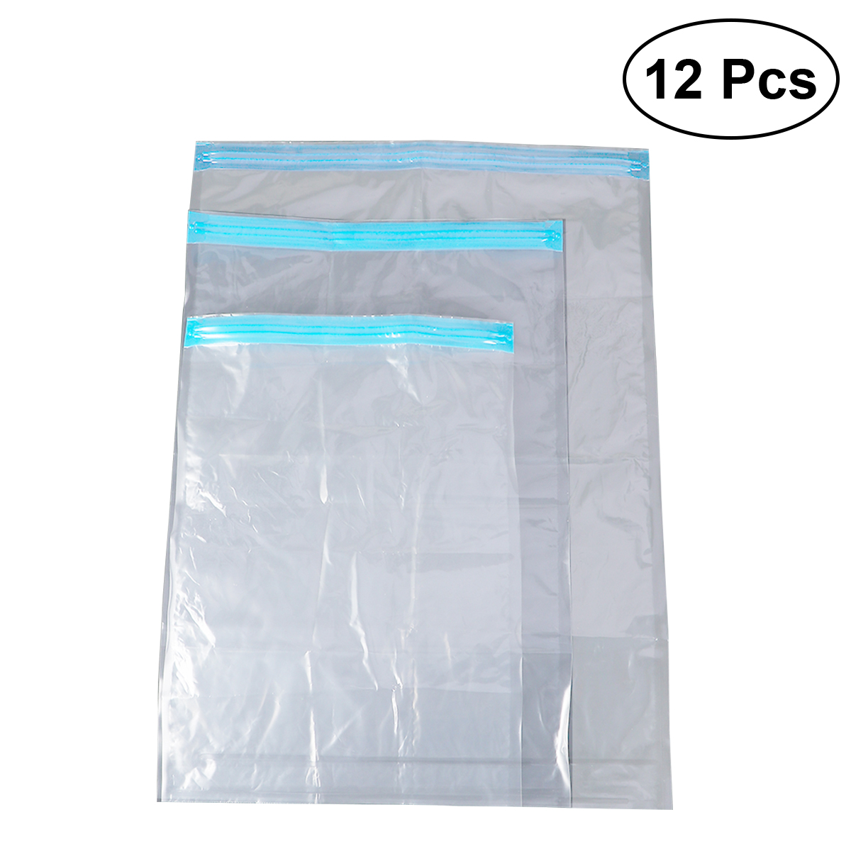 12pcs Compression Storage Bags Waterproof Space Saver Bags Roll Up Travel Bags For Clothes Dress Down Jacket
