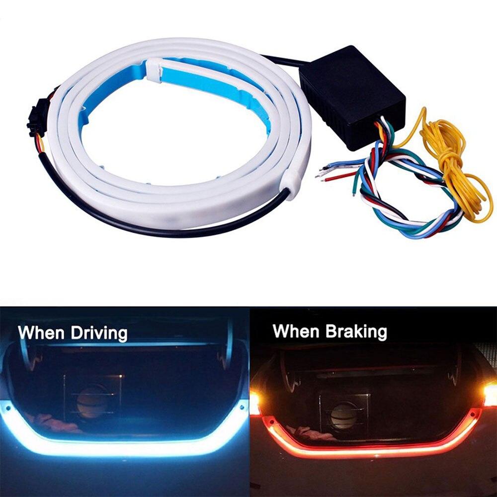 LED Colorful Car Rear Lamp Amber Turn Signal Flow Trunk Strip Light Tailgate Luggage Dynamic Streamer Floating LED Strip Oc21