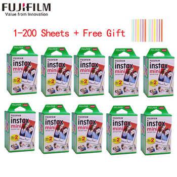 10-200 blätter Fujifilm instax mini 11 9 film weiß Rand 3 Zoll breite film für Instant Kamera mini 8 7s 25 50s 90 Foto papier