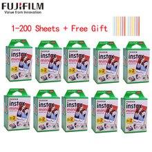 10-200 folhas fujifilm instax mini 11 9 filme borda branca 3 Polegada filme largo para câmera instantânea mini 8 7s 25 50s 90 papel de foto