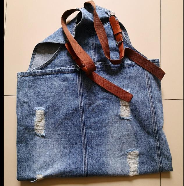 Fashion Maxi Denim Dress Summer Ladies Suspenders Holes Jean Dresses Female Loose Plus Size 5XL Bib Blue cowboy Long Dress 8075 5
