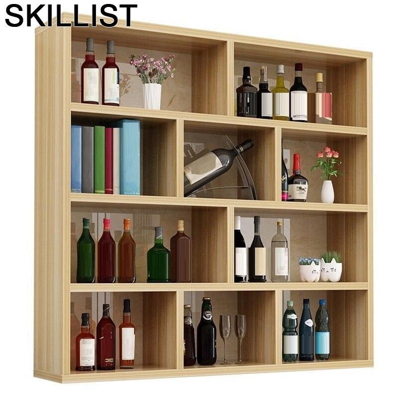 Mesa Adega Vinho Living Room Sala Table Hotel Vetrinetta Da Esposizione Storage Commercial Shelf Bar Furniture Wine Cabinet