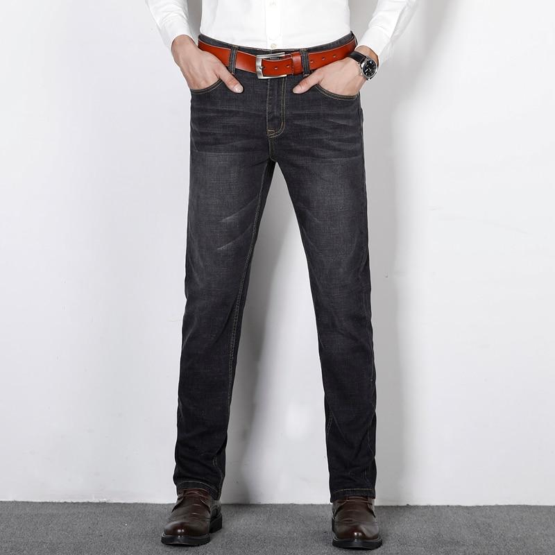 Man New Arrivals Jeans Men Business Casual Male Denim Pants Stretch Straight Trousers Slim Fit Men's Retro Trousers  Loose 42