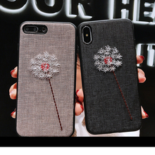 2019 NEW For iPhone 7 8 6s Plus Xs Fashion 3D Relief Flower Loop Ring Phone Cases XS MAX XR Slim Stand