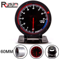 2.5inch 60MM Car Auto Tachometer 0 9000 RPM meter 12V red light tacometro moto boat motorcycle tachometer modification tach