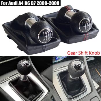 12mm dla Audi A4 B6 B7 2000-2008 5 6 gałka skrzyni biegów dźwignia ręczna skórzana osłona buta Case Car Styling tanie i dobre opinie Kakulkomen 14 7cm For Audi A4 B6 B7 2000-2008 Iso9001 9 5inch Real Leather-ABS Gałka zmiany biegów 0 17kg Replace Gear Shift Knob
