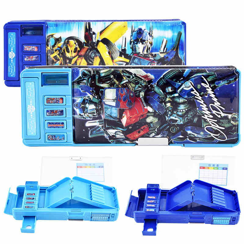 TRANSFORMERS Pencil Case For Boys Pupils Estuche Escolar Pencil Case Creative Pencil Box Kawaii Pouch Pencil Bag School Supplies