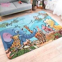 幼児シャイニングベビープレイマット肥厚キッズラグカーペット 150 × 200 センチメートル子供ルームラグカーペット子供環境にやさしい毛布