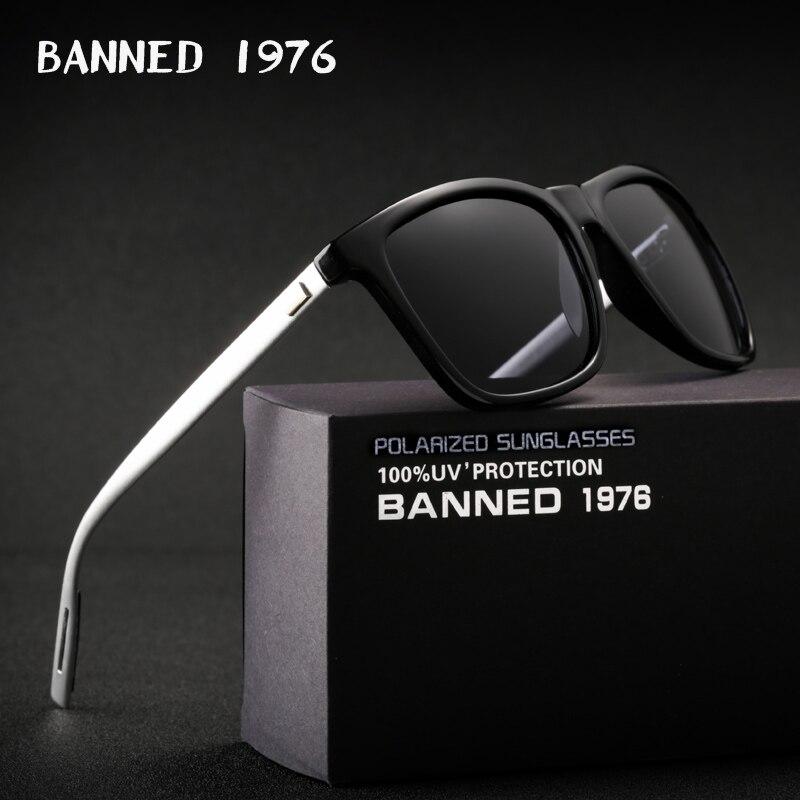 2018 HD gafas de sol polarizadas de aluminio magnesio UV400 hombres mujeres conducción moda vintage nuevos gafas de sol oculos de sol con caja