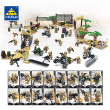цена на Rich military police series  SWAT weapon building blocks military minifigure children toys birthday gift