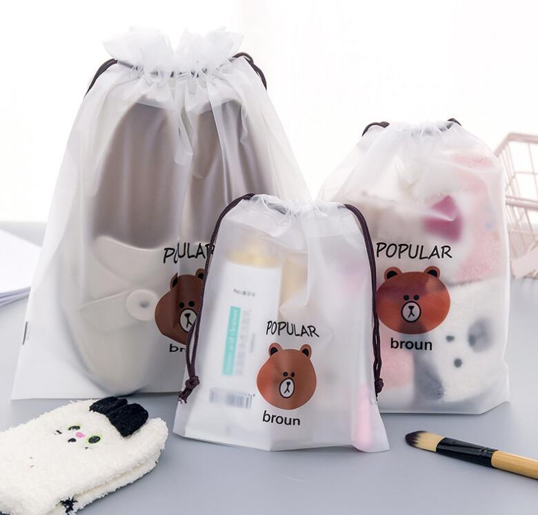 Brown Bear Transparent Cosmetics Bundle Pocket Ladies Travel Bag Cosmetics Storage Bag Storage Bag Sanitary Wash Bag Bath Beauty