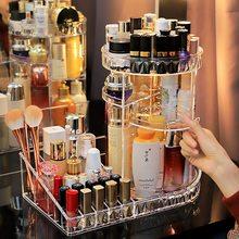 360 degrés Rotation Transparent acrylique cosmétiques boîte de rangement mode Spin multi-fonction détachable maquillage beauté organisateur