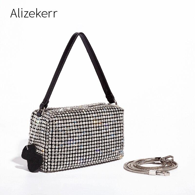 Diamonds Evening Handbags For Women 2020 New Korean Luxury Designer Shiny Rhinestone Small Clutch Purse Ladies Sac Femme Fashion