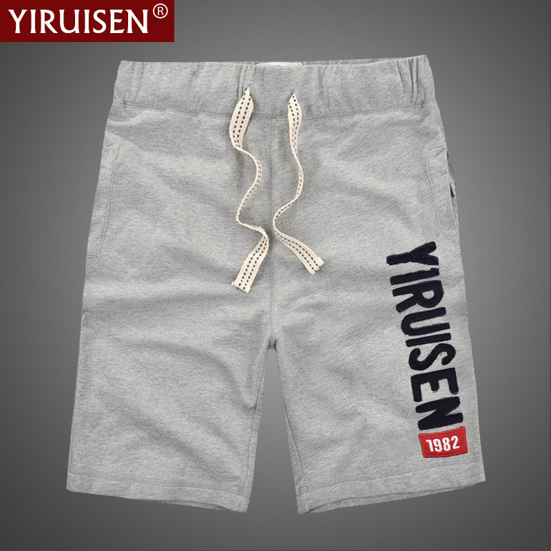 Wholesale 26 Styles YiRuiSen Brand Men Shorts 100% Cotton Casual Shorts Boardshorts Summer Short Pants For Men Hip Hop Fashion