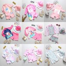 Купальный костюм для маленьких девочек; Новинка 2020 года; Детский