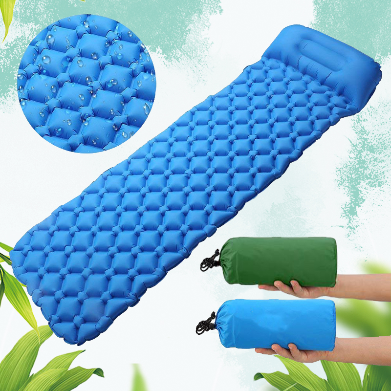 Camping Sleeping Pad Ultralight, Waterproof, Lightweight,  Self Inflating Sleeping Pad Camping, Backpacking, Hiking With Pillow