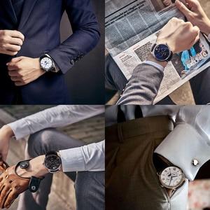 Image 3 - Silver quartz watch moon phase watch waterproof watch watches for men