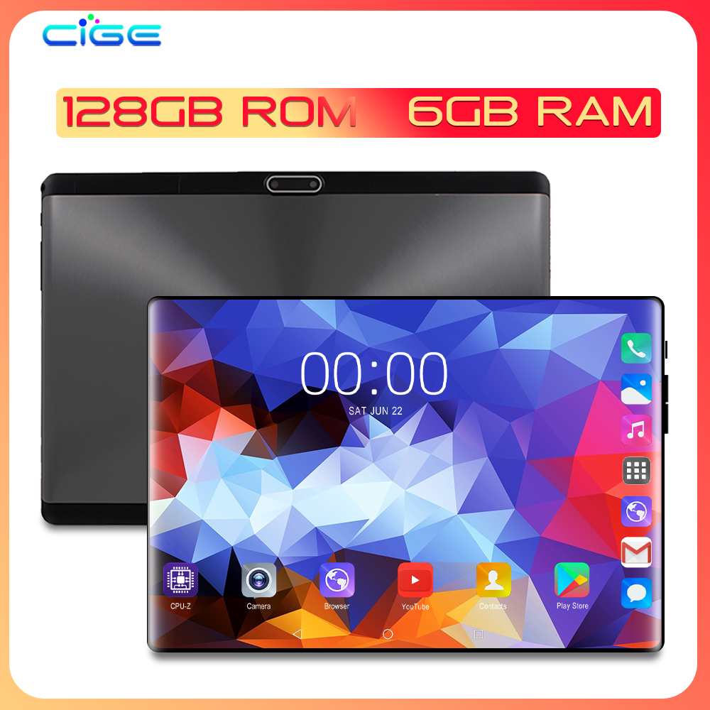 X20 Tablet PC 10 Inch Android 9.0 128GB ROM 6GB RAM Octa Core Phone Call Dual SIM Tablets Gps Fm Bluetooth 10.1 Phablet +gift