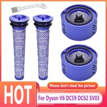 For Dyson V6 DC59 DC62 SV03 Pre Post-Motor HEPA Filter Kit Vacuum Cleaner Parts Fit Part