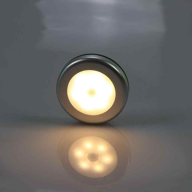 1 Chiếc 6LED Đèn Ngủ Cảm Biến Chuyển Động Đèn Từ Đầu Báo Động Không Dây Đèn Treo Tường Tự Động Bật/Tắt Tủ Quần Áo Hành Lang Tủ đèn