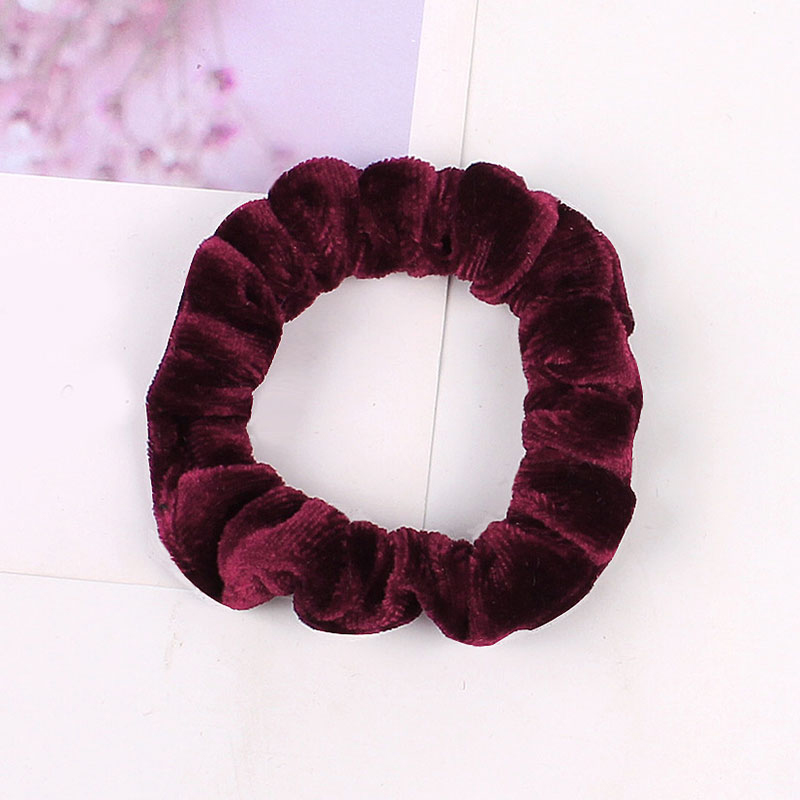 1 шт., женское эластичное кольцо для волос, зимние мягкие бархатные резинки, резинки для волос, милые одноцветные аксессуары для волос, держатель для конского хвоста - Цвет: Velvet-4