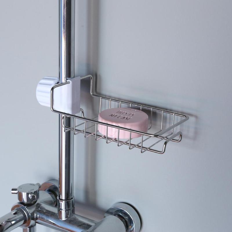 Hot Sink Tap Hanging Holder Faucet Storage Rack Sponge Dishcloth Clip Shelf