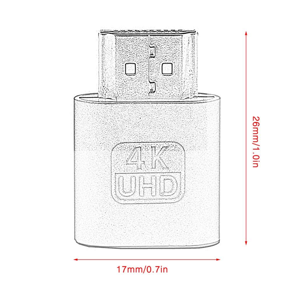 VGA HDMI Dummy Plug Virtual Display Emulator Adapter DDC Edid Support 1920x1080P For Video Card BTC Mining Miner-5