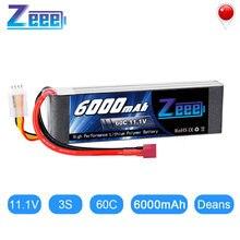 Zeee lipo батарея 111 v 6000mah 60c 3s deans вилка для fpv Радиоуправляемый