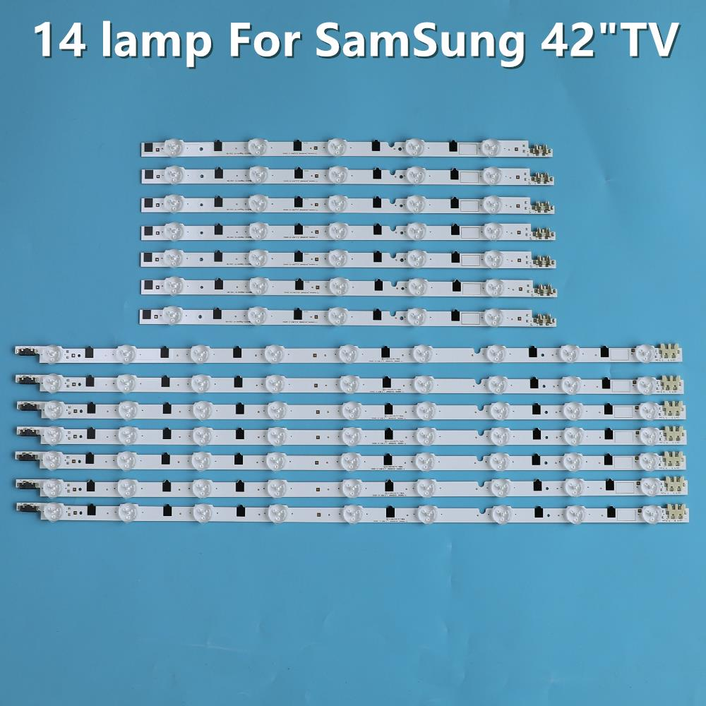 14pcs LED Strip 2013SVS42F For Samsung 42'' TV D2GE-420SCB-R3 D2GE-420SCA-R3 UE42F5000AK HF420BGA-B1 UE42F5500 UE42F5300