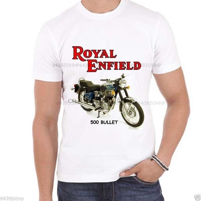Retro Enfield Made Like A Gun Biker Motorcycle T-shirt Distressed Print S to 5XL