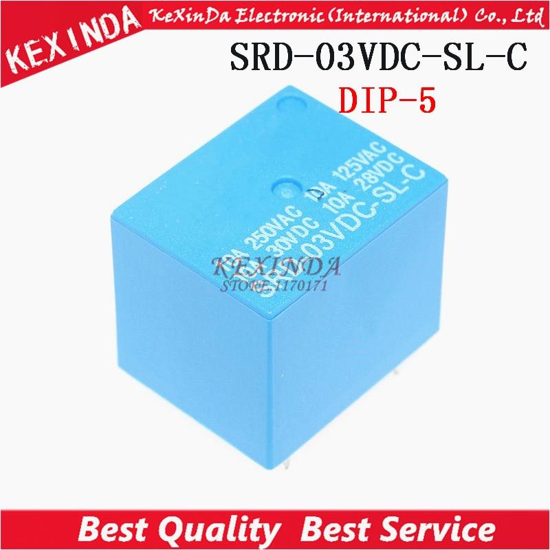 2pcs SRD-03VDC-SL-C SRD-3VDC-SL-C SRD-3V-SL-C DIP5