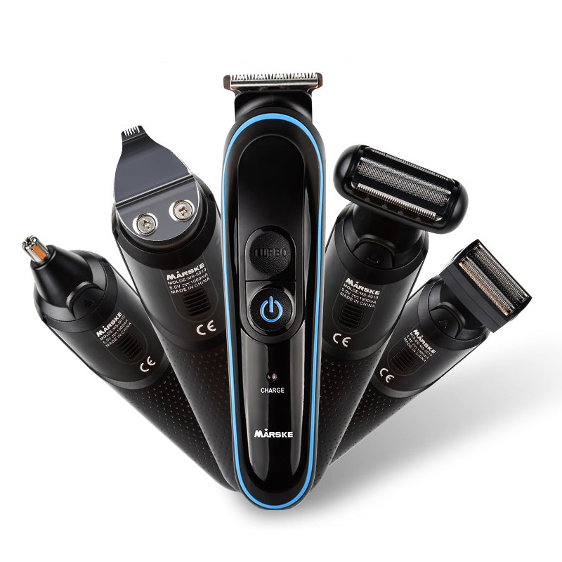 5 in 1 Electric Hair Trimmer clipper multi function suit nose hair shaving lettering USB rechargeable hair clipper|  - title=