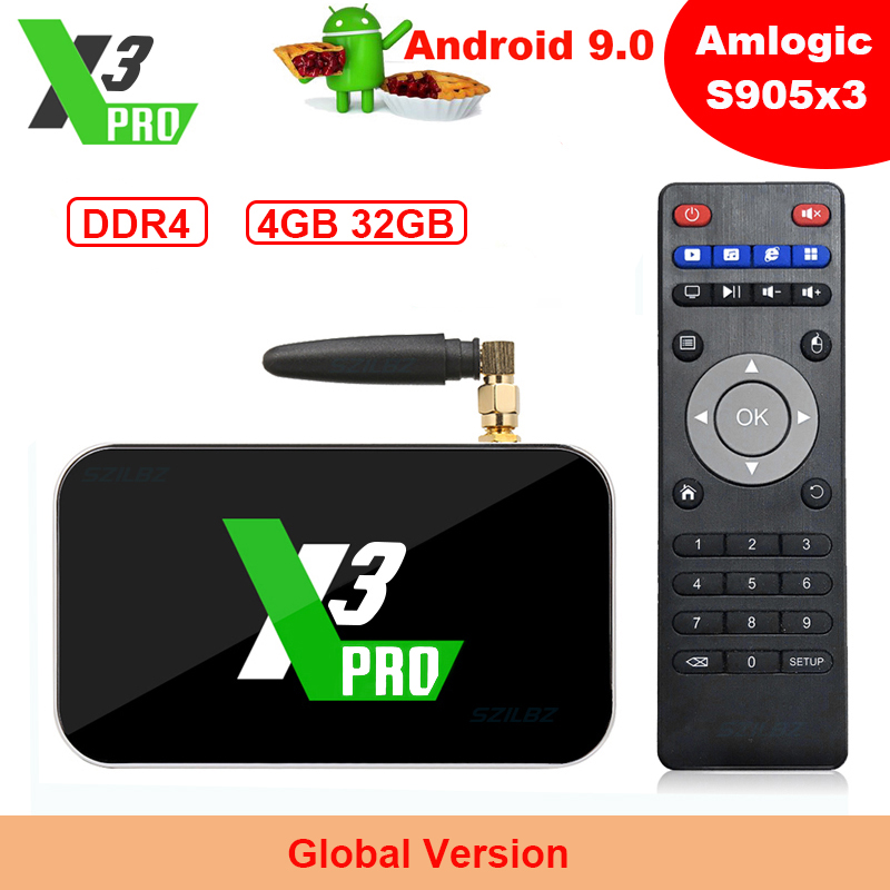 Ugoos X3 <font><b>PRO</b></font> Android 9.0 <font><b>TV</b></font> <font><b>Box</b></font> X3 CUBE Amlogic S905X3 4GB DDR4 32GB <font><b>Smart</b></font> Set top <font><b>box</b></font> 2.4G 5G WiFi Bluetooth 4K Media Player image