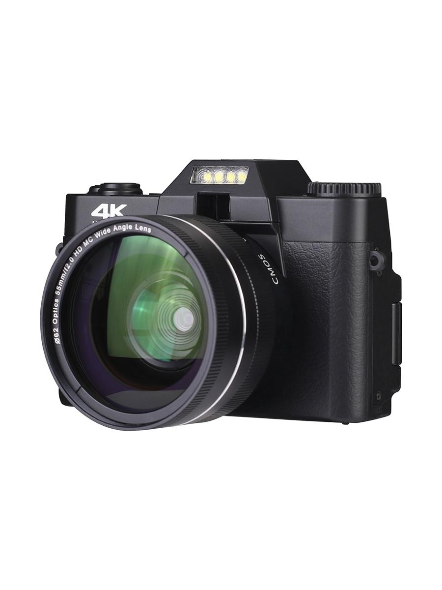 KOMERY Digital Camera 4K Camera 3.0 Inch LCD Flip Screen Video Camera 16X Digital Zoom HD Output Support WiFi Selfie Cam-3