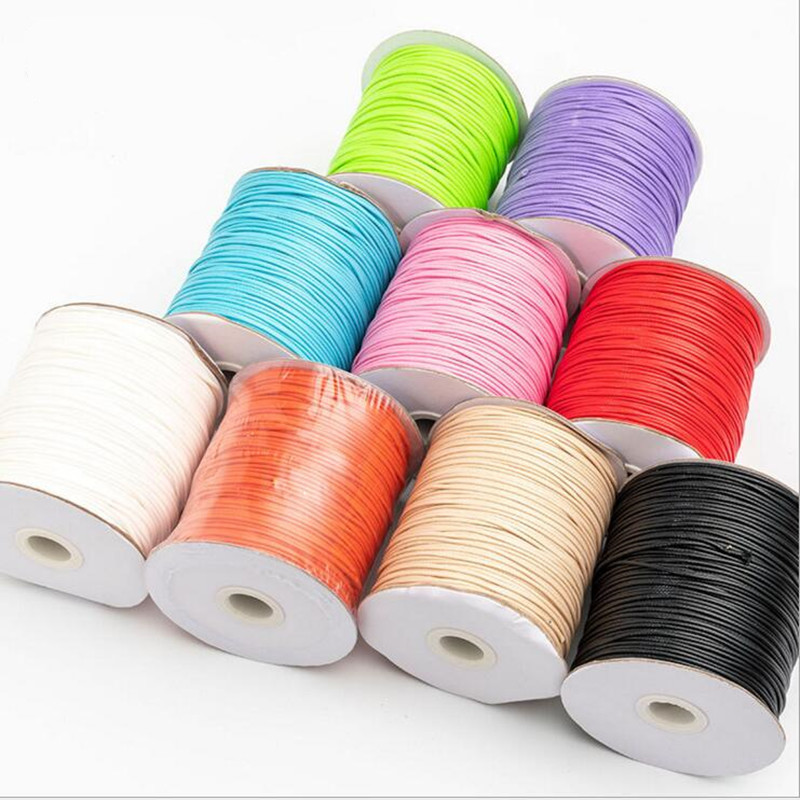10 meters 1.5MM Waxed Leather Thread Wax Cotton Cord String Strap Pink//Purple