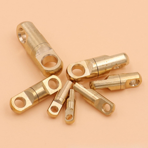 3pcs Brass Keychain DIY EDC Key Rotate 360 Degrees Buckle Accessories Key Ring Outdoor Tool