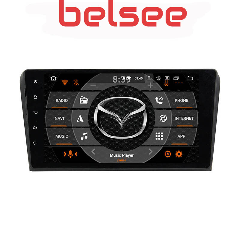 Belsee Ram 4G+64GB Android 9.0 Auto Car Radio <font><b>Multimedia</b></font> Naviation 9