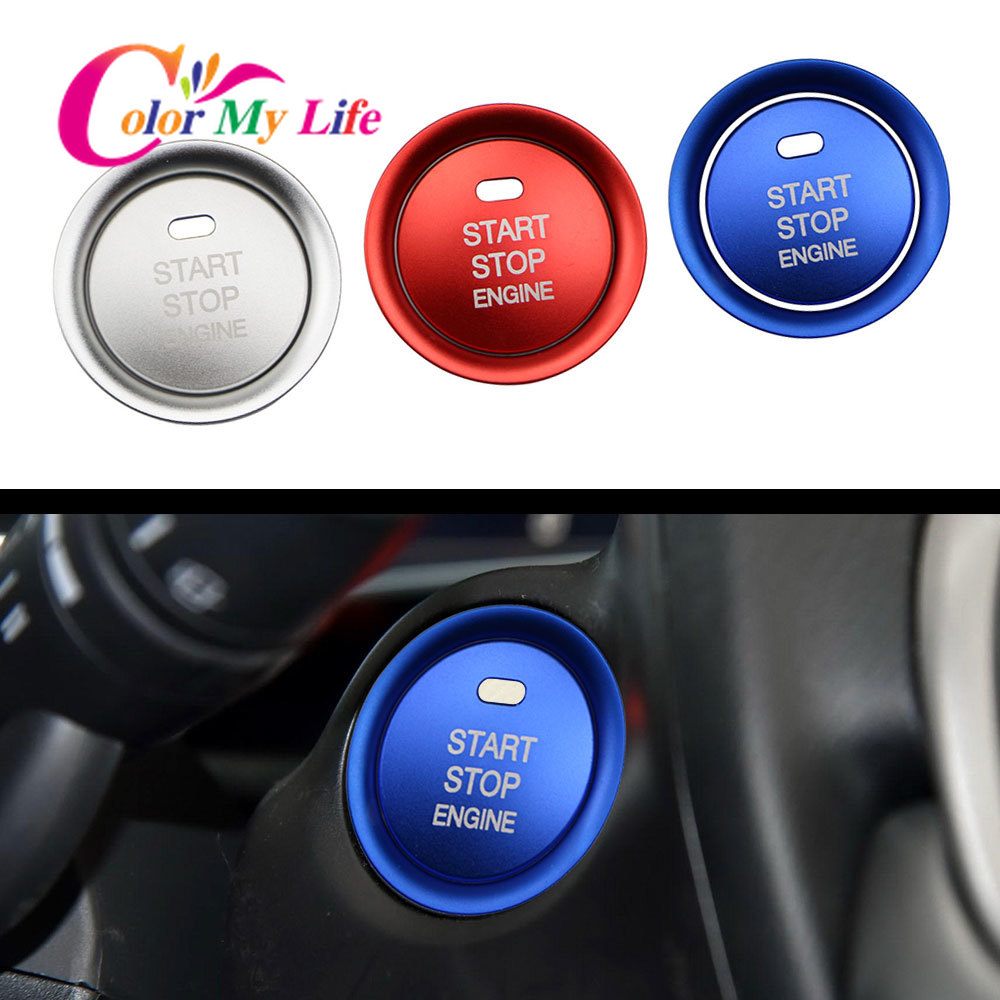 Car Console <font><b>Engine</b></font> Ignition Start Stop Switch Push Button Key Ring Cover Trim for <font><b>Mazda</b></font> CX5 CX3 CX4 Cx-<font><b>3</b></font> <font><b>3</b></font> 6 Axela ATENZA image