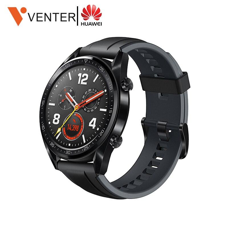 Huawei montre GT montre intelligente soutien GPS NFC 14 jours durée de vie de la batterie 5 ATM étanche à l'eau appel téléphonique traqueur de fréquence cardiaque pour Android iOS