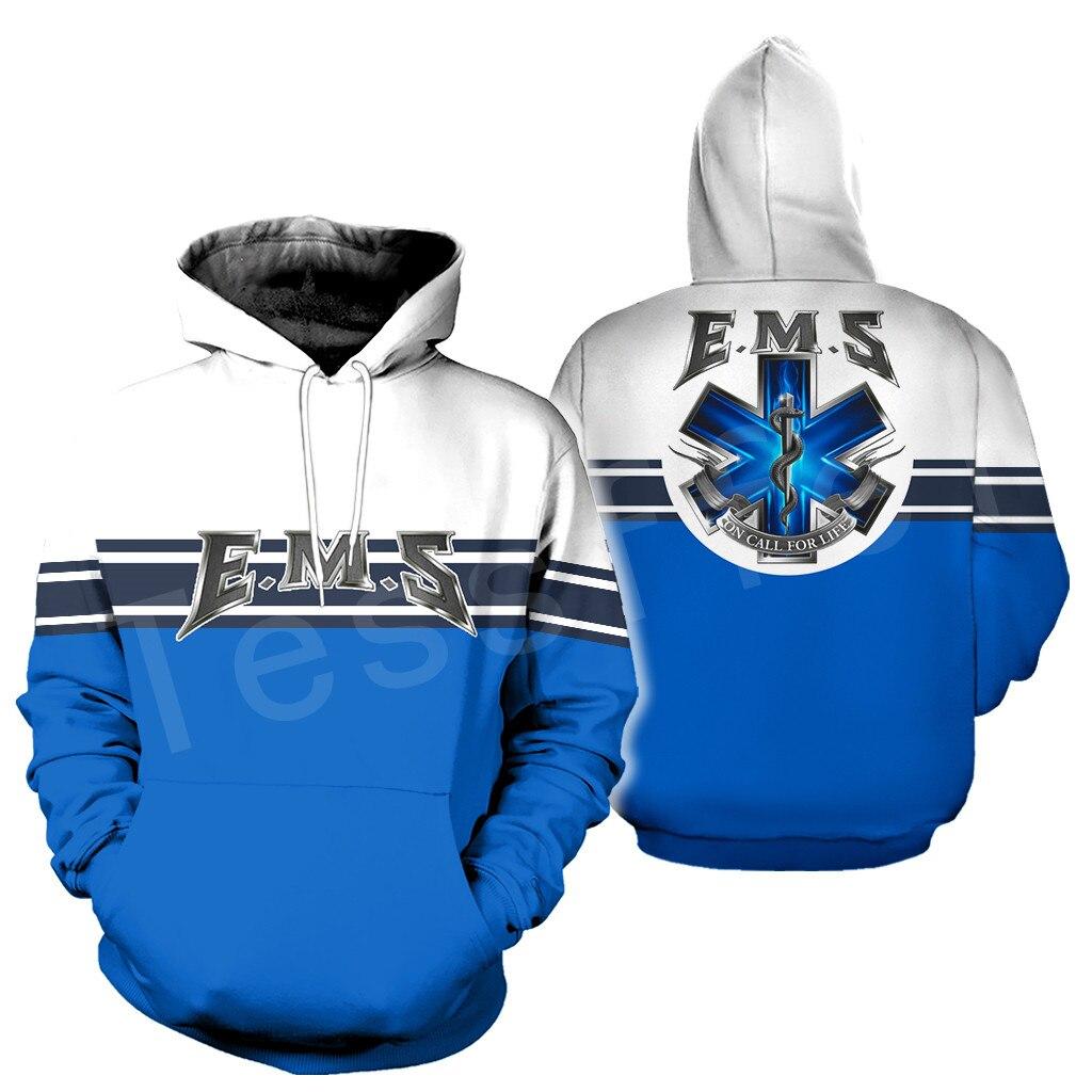 Tessffel Emergency Medical Technician EMT EMS Paramedic NewFashion Unisex Pullover 3DPrint Sweatshirt/Hoodies/zipper/Jacket S-2